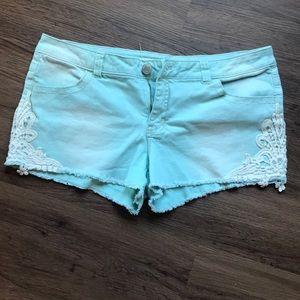 Lace edge shorts